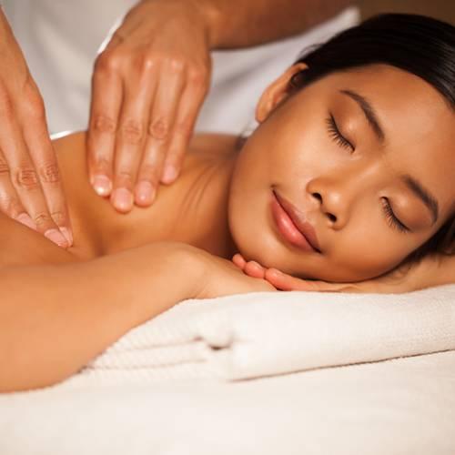 Thai yoga massage asian client