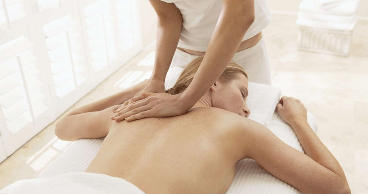 Therapist Giving Manual Lymphatic Drainage Massage London
