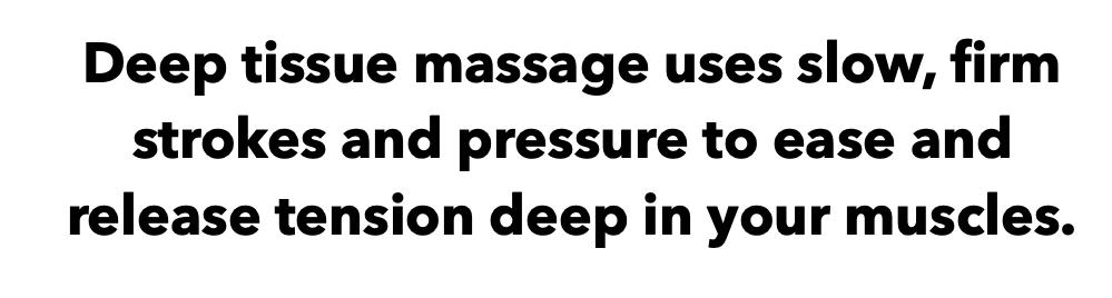 Deep Tissue Massage Techniques
