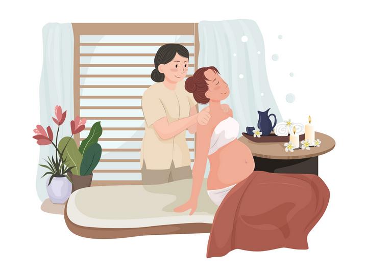 Massage therapist performing shoulder massage in spa London